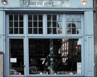 Paris Photography, Paris Blue La Fourmi Ailee, Paris Blue Art, Fine Art Prints, French Decor, Paris Decor, Paris Shop, Paris Window, French