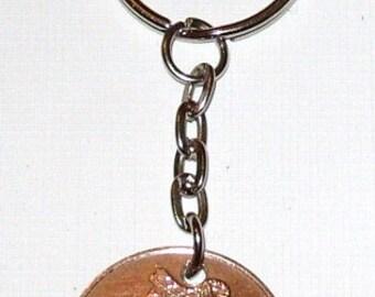 1978 2p Two Pence Dhá Phingin Irish Coin Keyring Key Chain Fob 39th Birthday