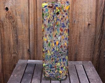 Vintage Large Splatter Glass Vase
