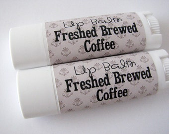 Fresh Brewed Coffee - Vegan Lip Balm - Natural Lip Butter - Nut Free - bath and beauty
