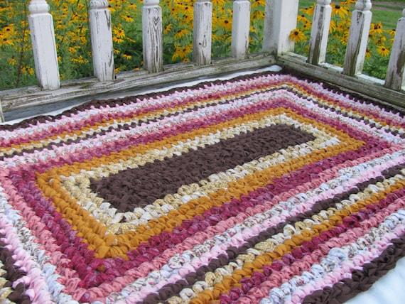 Items Similar To Crochet Rectangular Rug On Etsy