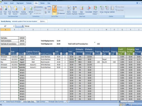 monthly sales log wholesale commission tracking spreadsheet