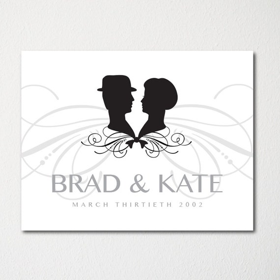 Art Print Wedding Gift : Personalized Wedding Art Print / Engagement Gift / Married Couple ...