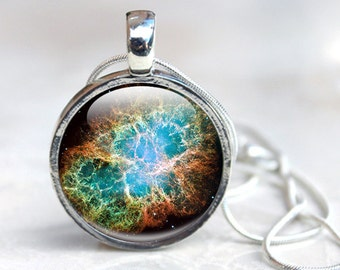 Space Necklace - Space Jewelry, Galaxy Stars Planets  Glass Pendant - Necklace Universe Art Picture Necklace Photo Pendant, space Jewellery