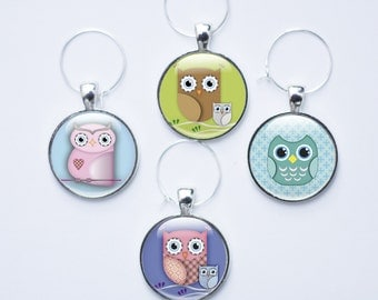 Wine charms - Wine Glass Charms - Owl Wine Glass Charms - Owl Wine Charms (owl 8)