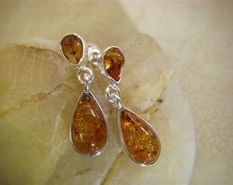 Amber Dangle Earrings