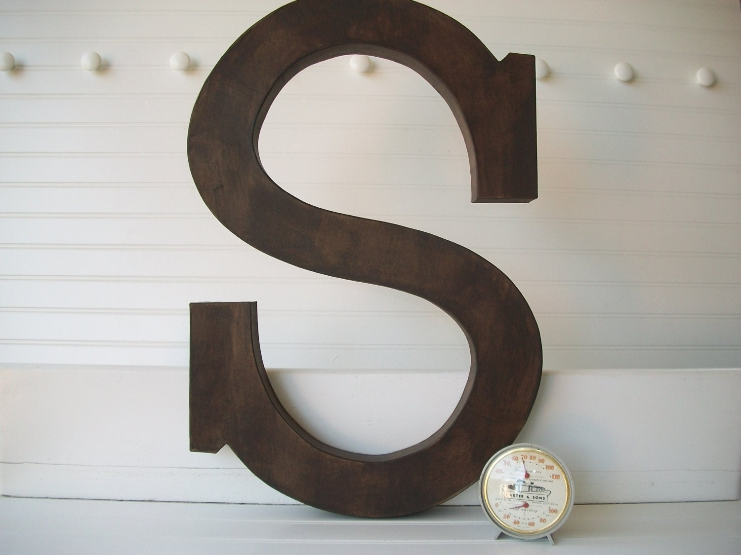 Painted Letter Wall Decor 24 Inch Large Wall Letters