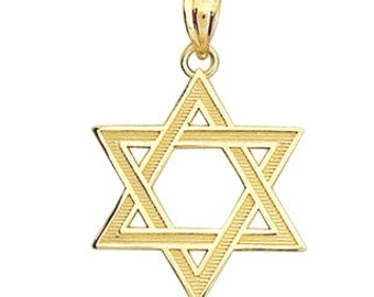 Star of David, Star of David Pendant, Star of David Jewelry, Gold Pendant, Gold Star of David, 14k Star of David