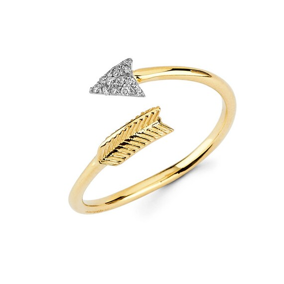 14k arrow arrow arrow ring arrow jewelry dainty jewelry