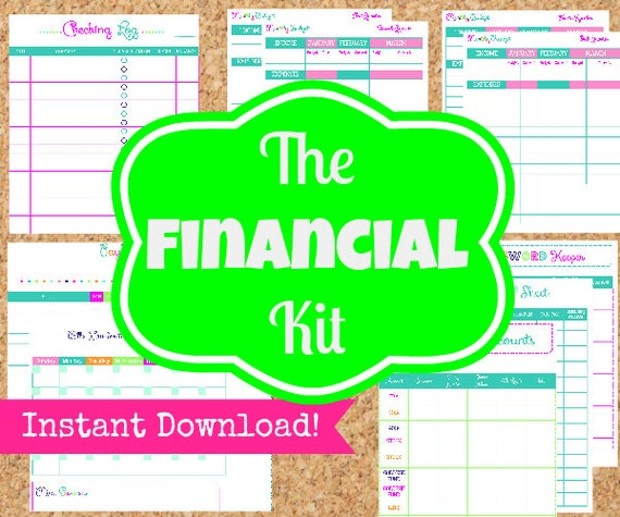 Financial Planner Finance Printables The Financial Kit 11