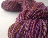 NEW COLORWAY - Venus In Furs - dyed in the wool, bfl superwash sock yarn, hand dyed, millspun