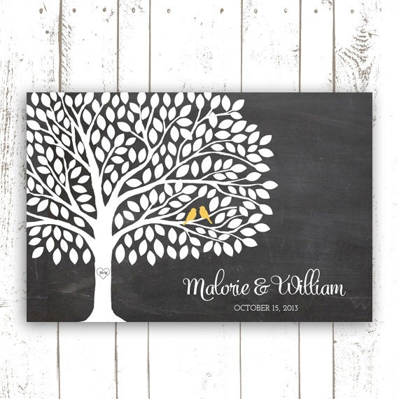 Wedding Tree Guest Book: Guest Book Tree Wedding Guest Book By MooseberryPaperCo On