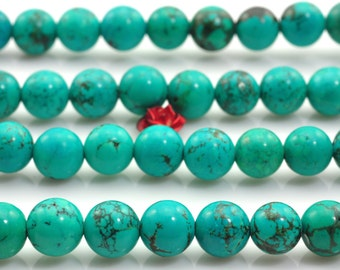 50 pcs of Chinese Turquoise smooth round beads in 8mm