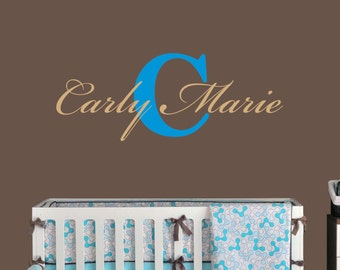 First And Middle Name Vinyl Wall Decal (MN-04) - Nursery Children