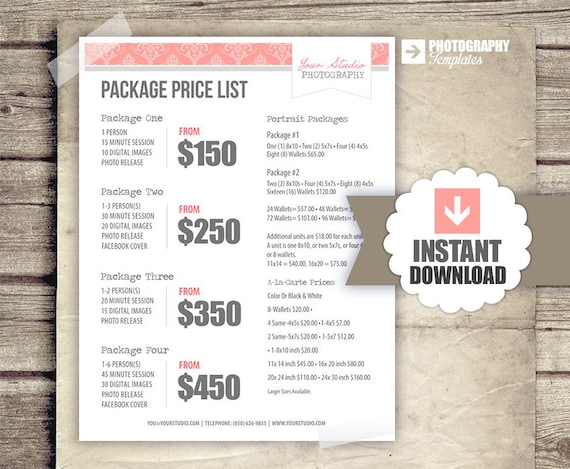 Wedding Photography Package Examples: Photography Package Pricing Photographer By StudioTwentyNine