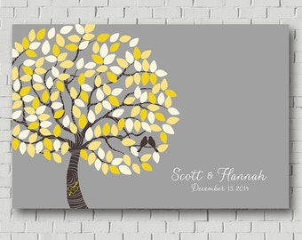 Guest Book Alternative -  Wedding Tree - Chalkboard Wedding - Guest Book - Wedding Poster - Wedding Reception - Guest Book Print - Poster