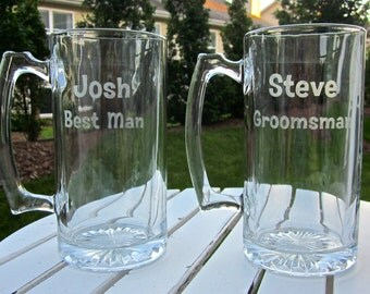 Etched Beer Mug with 2 lines of Text