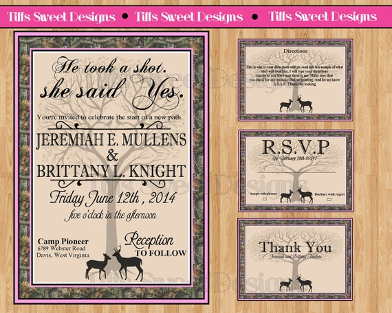 unavailable listing on etsy With free printable redneck wedding invitations