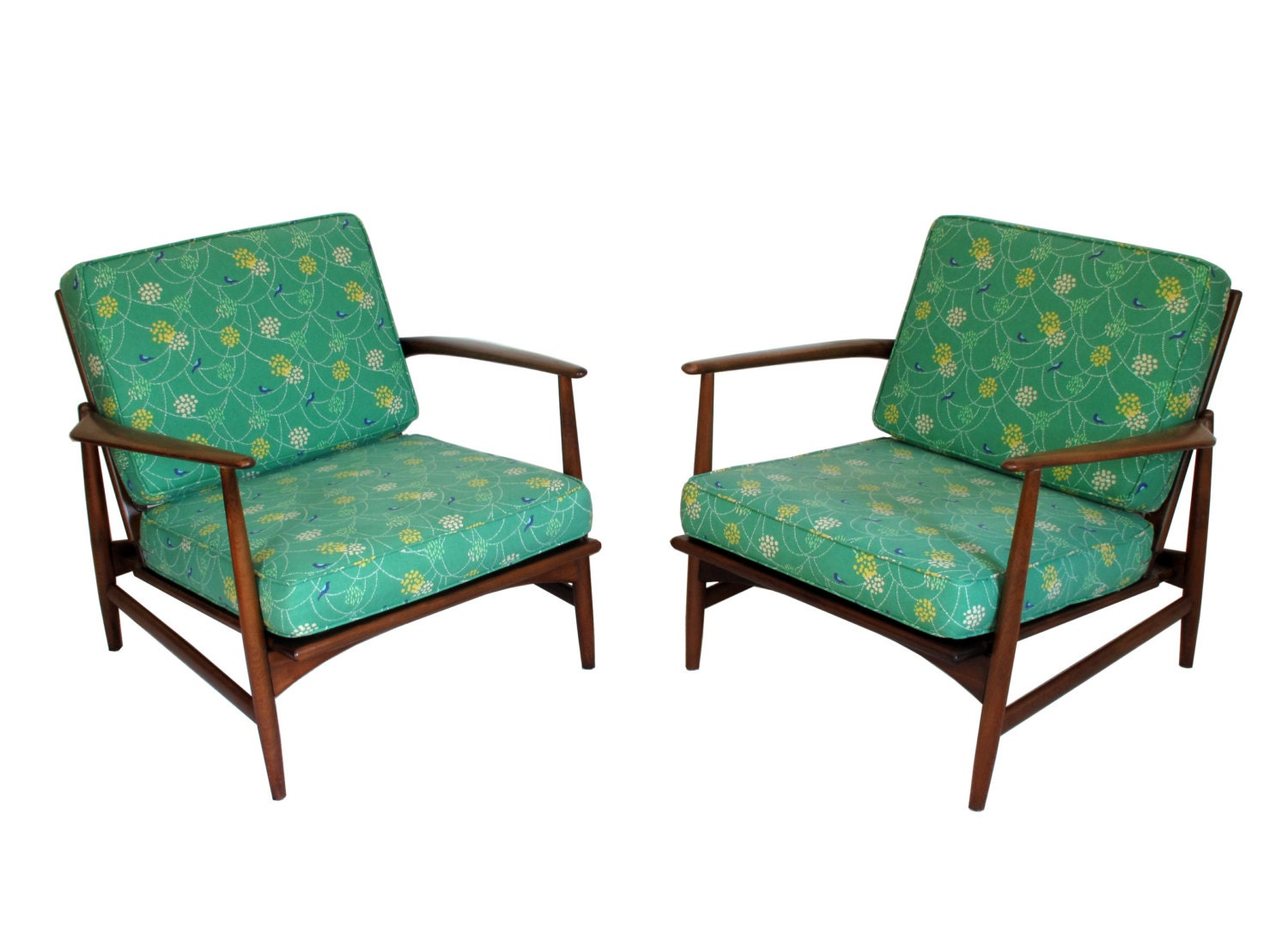 Two 2 Selig Kofod Larsen Lounge Chairs