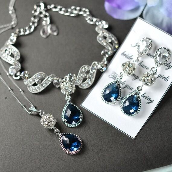 Wedding Jewellery Gift Sets : ... SET Wedding Bridal Wedding Bridal Jewelry Bridesmaid Gift Something