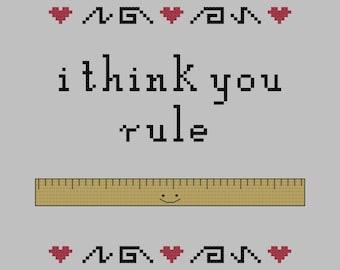 i think you rule cross stitch pattern