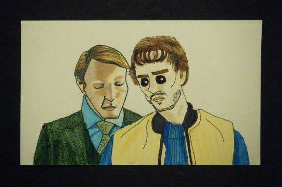 Hannibal Lecter Smells Will Graham 3x5""