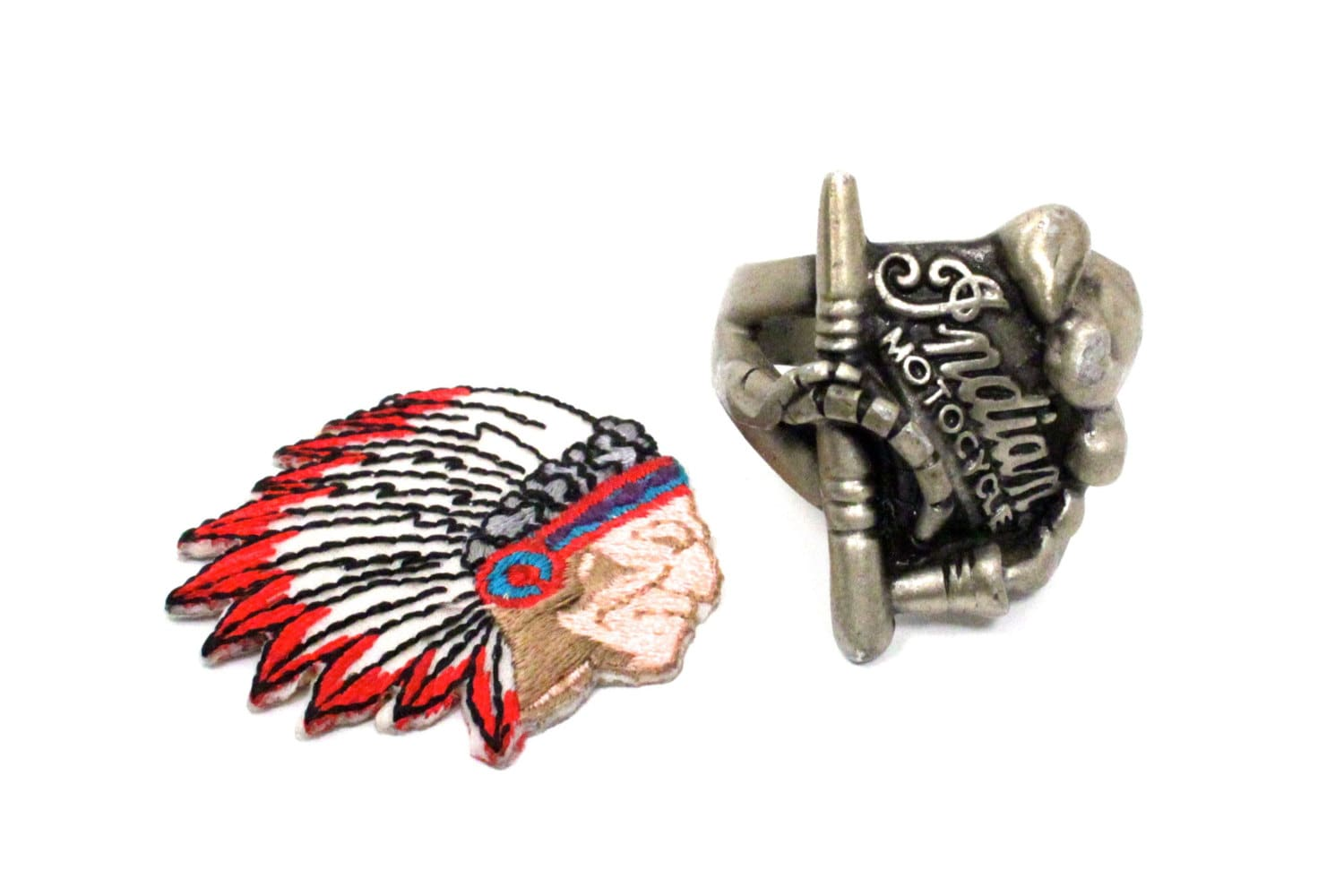 Indian Motorcycle Ring And Patch Size 12 Item By