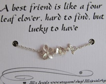 Frienship Infinity Charm Anklet with Orchid Flowers and Quote Inspirational Card- Bridesmaids Gift - Friendship Anklet - Quote Gift