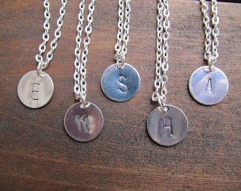 Initial Charm Necklace, Personalized Necklace, Necklace Set of 5, Bridesmaid Gift, Bridesmaid Jewelry, Bridal Party Gift, Letter Necklace