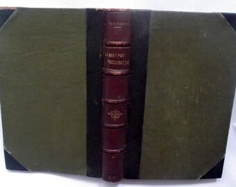 Un Mari par Procuration by Jack Steele 1912 antique old French book Hachette Paris