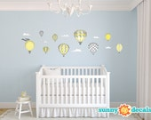 Hot Air Balloons Fabric Wall Decals, Wall Decor, Wall Stickers for Kids and Babies, Kid's Rooms, Play Rooms, Schools by Sunny Decals