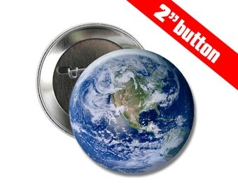 Earth 2 inch Button