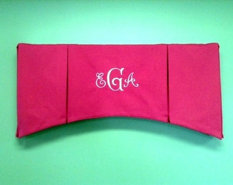 Monogrammed Box Pleated Valance (made to order with your fabric)