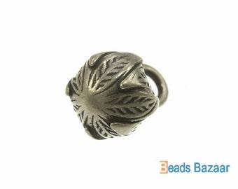 Karen Hill Tribe silver Budding Jasmine Flower Charm, 12 mm