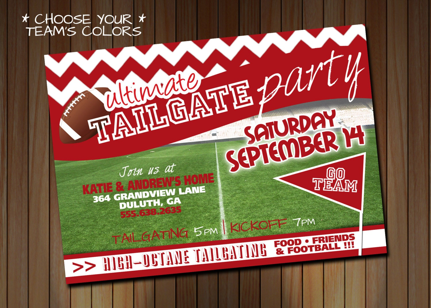 Tailgating Party Invitation OR Birthday Party Invitation