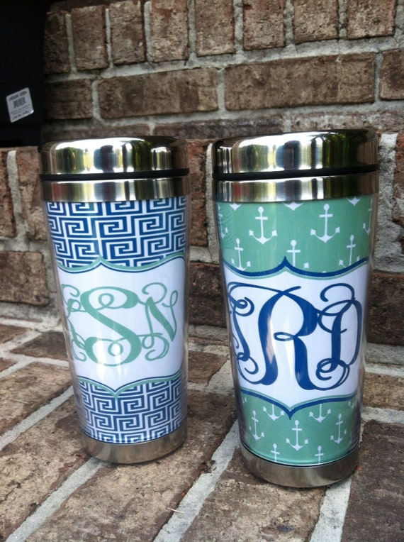 Personalized Stainless Steel Travel Mug Monogrammed