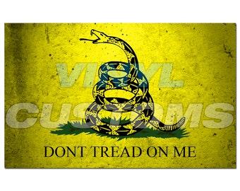 Dont Tread On Me Vinyl Decal Sticker Subdued Tactical Yellow