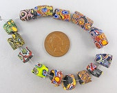 Antique African Trade Beads 14 Venetian Millefiori Glass Beads As Is