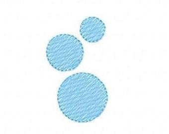 Bubbles Machine Embroidery Design