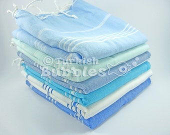 S A L E, Express Shipment, 6 Turkish Towels, Bridesmaid Gift, Turkish Bath Towel, Cotton Spa Towel, Peshtemal, Beach Towels, Towel Set