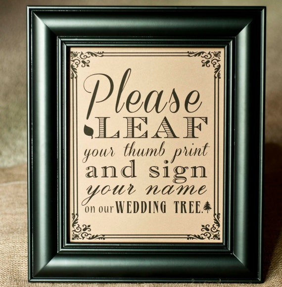 Wedding Guest Book Where It S Your Guests That Sign Their: 8 X 10 Wedding Tree Thumb Print Alternative By