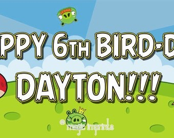 Angry Birds party banner (PRINTABLE)
