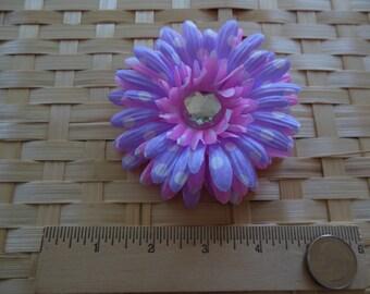 Polka Dot Flower Hair Clip