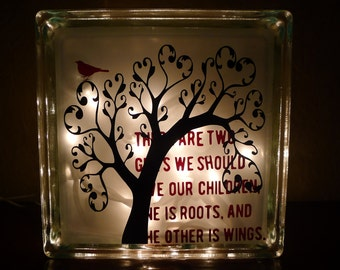 Give Our Children Roots and Wings Night Light Small Version