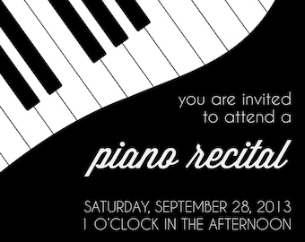 Piano recital invitation- custom