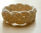 Sailor's Knot Bracelet | Natural Off-White | Continuous Turk's Head Knot