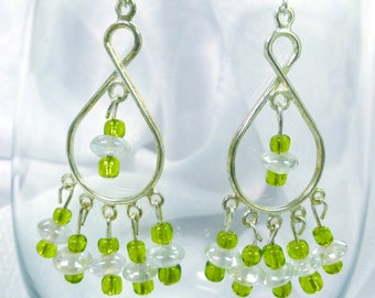 Spring Green Chandelier Earrings