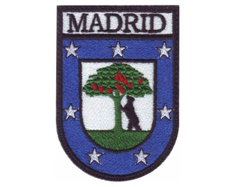 Spain Madrid  Shield Embroidered  Patch