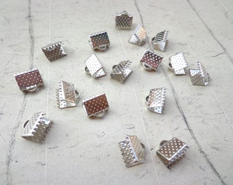 100 pcs 8 mm Silver  Plated   Fasteners Clasps