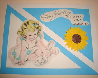 Unique Handmade Cards with Vintage Birthday Card cutouts